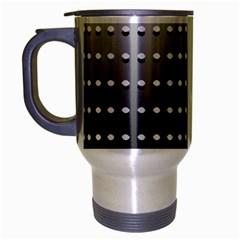 Gradient Oval Pattern Travel Mug (silver Gray) by Simbadda