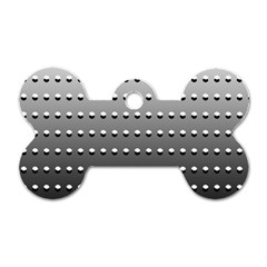 Gradient Oval Pattern Dog Tag Bone (two Sides) by Simbadda