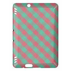 Cross Pink Green Gingham Digital Paper Kindle Fire Hdx Hardshell Case by Alisyart