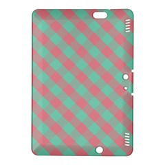 Cross Pink Green Gingham Digital Paper Kindle Fire Hdx 8 9  Hardshell Case by Alisyart