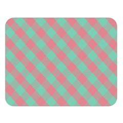 Cross Pink Green Gingham Digital Paper Double Sided Flano Blanket (large)  by Alisyart