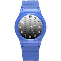 Gradient Oval Pattern Round Plastic Sport Watch (s) by Simbadda