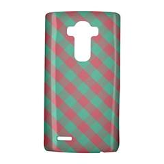 Cross Pink Green Gingham Digital Paper Lg G4 Hardshell Case by Alisyart
