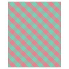 Cross Pink Green Gingham Digital Paper Drawstring Bag (small) by Alisyart