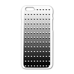 Gradient Oval Pattern Apple Iphone 6/6s White Enamel Case by Simbadda
