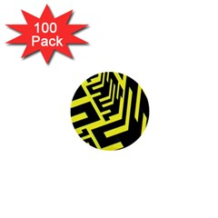 Pattern Abstract 1  Mini Buttons (100 Pack)  by Simbadda