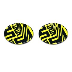 Pattern Abstract Cufflinks (oval) by Simbadda