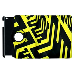Pattern Abstract Apple Ipad 3/4 Flip 360 Case by Simbadda
