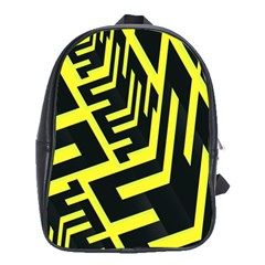 Pattern Abstract School Bags (xl)  by Simbadda