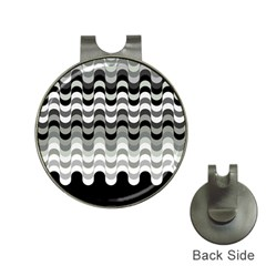 Chevron Wave Triangle Waves Grey Black Hat Clips With Golf Markers by Alisyart