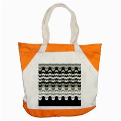 Chevron Wave Triangle Waves Grey Black Accent Tote Bag by Alisyart