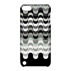 Chevron Wave Triangle Waves Grey Black Apple Ipod Touch 5 Hardshell Case With Stand by Alisyart