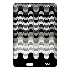 Chevron Wave Triangle Waves Grey Black Amazon Kindle Fire Hd (2013) Hardshell Case by Alisyart
