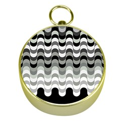 Chevron Wave Triangle Waves Grey Black Gold Compasses by Alisyart