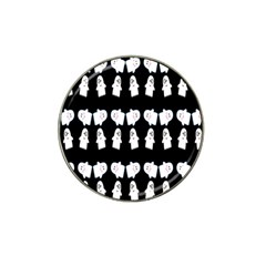 Cute Ghost Pattern Hat Clip Ball Marker (10 Pack) by Simbadda