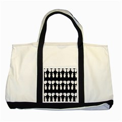 Cute Ghost Pattern Two Tone Tote Bag