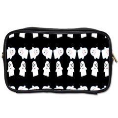 Cute Ghost Pattern Toiletries Bags 2 Side by Simbadda