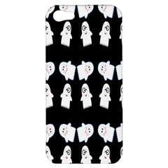 Cute Ghost Pattern Apple Iphone 5 Hardshell Case by Simbadda