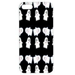Cute Ghost Pattern Apple Iphone 5 Hardshell Case With Stand by Simbadda