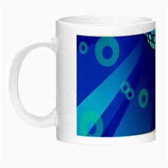Disco Ball Retina Blue Circle Light Night Luminous Mugs by Alisyart