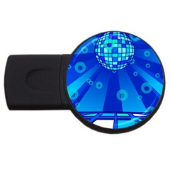 Disco Ball Retina Blue Circle Light Usb Flash Drive Round (4 Gb) by Alisyart