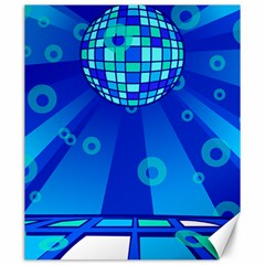 Disco Ball Retina Blue Circle Light Canvas 20  X 24   by Alisyart