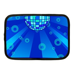 Disco Ball Retina Blue Circle Light Netbook Case (medium)  by Alisyart
