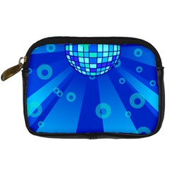 Disco Ball Retina Blue Circle Light Digital Camera Cases by Alisyart