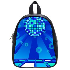 Disco Ball Retina Blue Circle Light School Bags (small)  by Alisyart
