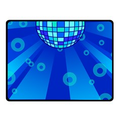 Disco Ball Retina Blue Circle Light Fleece Blanket (small) by Alisyart