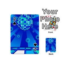 Disco Ball Retina Blue Circle Light Playing Cards 54 (mini)  by Alisyart