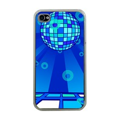 Disco Ball Retina Blue Circle Light Apple Iphone 4 Case (clear) by Alisyart