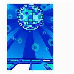 Disco Ball Retina Blue Circle Light Small Garden Flag (two Sides) by Alisyart