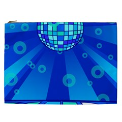 Disco Ball Retina Blue Circle Light Cosmetic Bag (xxl)  by Alisyart