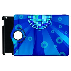 Disco Ball Retina Blue Circle Light Apple Ipad 3/4 Flip 360 Case by Alisyart