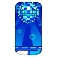 Disco Ball Retina Blue Circle Light Samsung Galaxy S3 S Iii Classic Hardshell Back Case by Alisyart