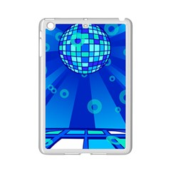 Disco Ball Retina Blue Circle Light Ipad Mini 2 Enamel Coated Cases by Alisyart