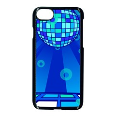 Disco Ball Retina Blue Circle Light Apple Iphone 7 Seamless Case (black) by Alisyart