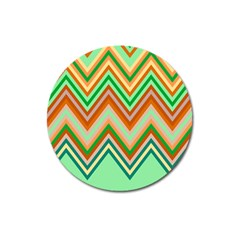Chevron Wave Color Rainbow Triangle Waves Magnet 3  (round) by Alisyart
