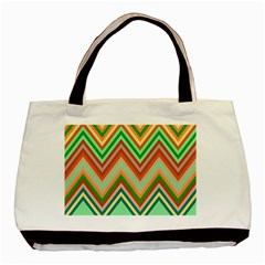 Chevron Wave Color Rainbow Triangle Waves Basic Tote Bag by Alisyart