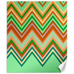 Chevron Wave Color Rainbow Triangle Waves Canvas 8  X 10  by Alisyart