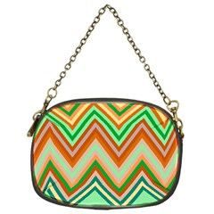 Chevron Wave Color Rainbow Triangle Waves Chain Purses (one Side)  by Alisyart