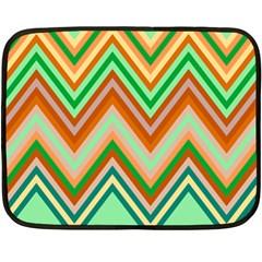 Chevron Wave Color Rainbow Triangle Waves Double Sided Fleece Blanket (mini)  by Alisyart