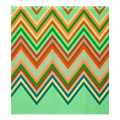 Chevron Wave Color Rainbow Triangle Waves Shower Curtain 66  X 72  (large)  by Alisyart