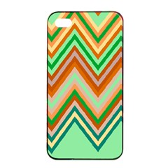 Chevron Wave Color Rainbow Triangle Waves Apple Iphone 4/4s Seamless Case (black) by Alisyart