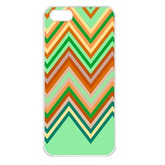 Chevron Wave Color Rainbow Triangle Waves Apple Iphone 5 Seamless Case (white) by Alisyart