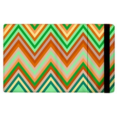 Chevron Wave Color Rainbow Triangle Waves Apple Ipad 2 Flip Case by Alisyart