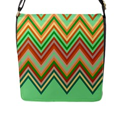 Chevron Wave Color Rainbow Triangle Waves Flap Messenger Bag (l)  by Alisyart