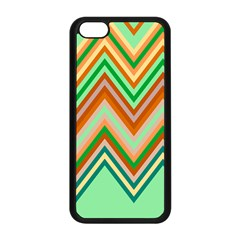 Chevron Wave Color Rainbow Triangle Waves Apple Iphone 5c Seamless Case (black) by Alisyart