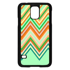 Chevron Wave Color Rainbow Triangle Waves Samsung Galaxy S5 Case (black) by Alisyart